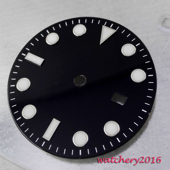 31.3 mm Parnis Black Watch Dial